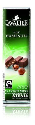 Cavalier Bar mørk kakaonibs 40g stevia