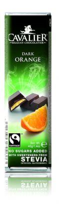 Cavalier Bar mørk appelsin 40g stevia