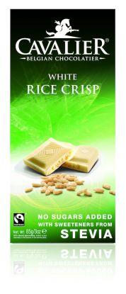 Cavalier Plate hvit ris crisp 85 gr stevia