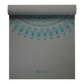 Gaiam Yoga Mat Teal Longer/wider 6mm