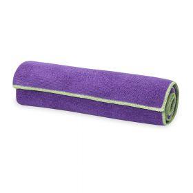 Gaiam Yoga Hand Towel Grape/celery