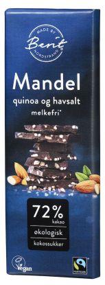 Berit Nordstrand 72 % sjokolade Mandel, Quinoa og Havsalt