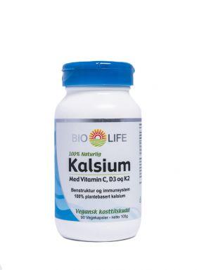 Bio-Life Kalsium med vitamin C, D3 og K2