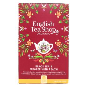 English Tea Shop Black Tea & Ginger with Peach