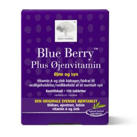 Blue Berry plus øyenvitamin 120 tbl