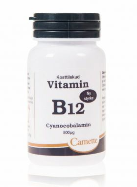 Camette Vitamin B12 Cyanocobalamin 500mcg