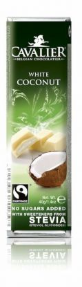 Cavalier Bar hvit kokos 40g stevia