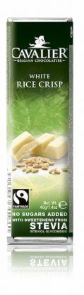 Cavalier Bar hvit ris krisp 40g stevia