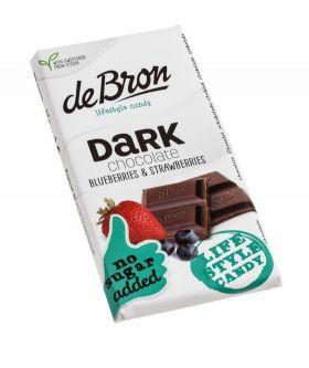 De Bron Dark chocolate blueberry & strawberry