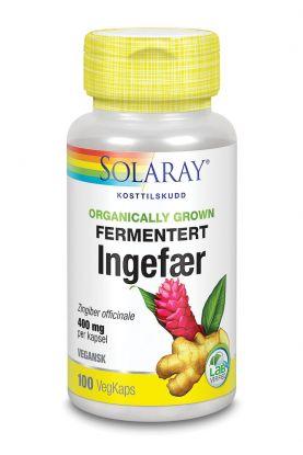 Solaray Fermentert Ingefær 100 kap