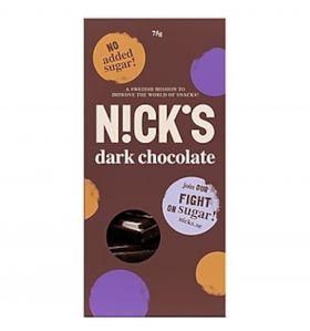 Nick's dark chocolate 75 gr