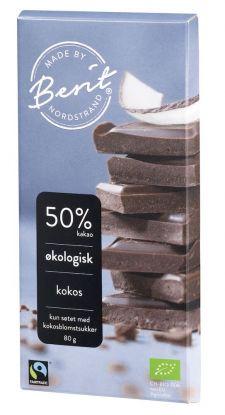 Berit Nordstrand sjokolade m/kokos 80 gr