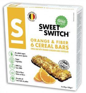 Orange & Fiber cereal bars 150 gr