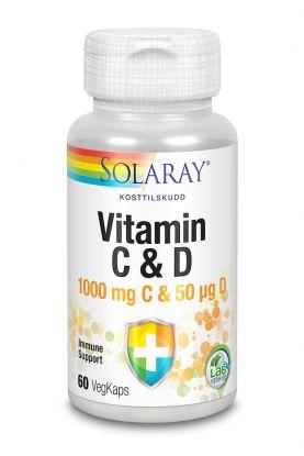 Solaray Vitamin C og D