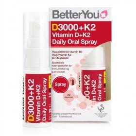BetterYou D3000+K2 Vitamin D+K2 Oral Spray