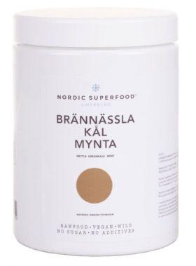 Nordic Superfood Supermatpulver Brennesle, grønnkål og mynte