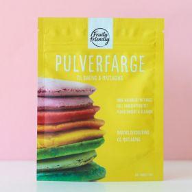 Fruityfriendly Pulverfarge gul