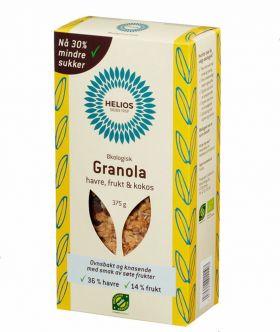 Helios Granola havre frukt 375 gr