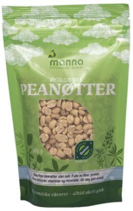 Manna Peanøtter uten salt 250 gr