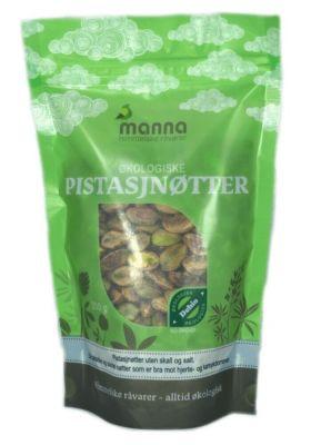 Manna Pistasjnøtter uten salt 250 gr