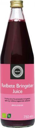 Helios rødbetjuice med bringebær