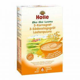 Holle 3-Kornsgrøt 250 gr
