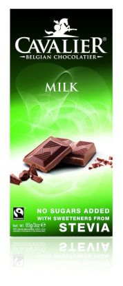Cavalier Plate melkesjokolade 85 gr stevia