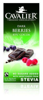Cavalier Plate mørk bringebær/blåbær 85 gr stevia
