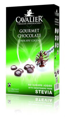 Cavalier mørk kokesjokolade 300 gr stevia