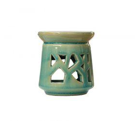 Oljelampe keramikk i turkis