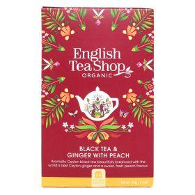 English Tea Shop Black Tea & Ginger with Peach