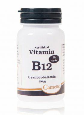 Camette Vitamin B12 Cyanocobalamin 500 µg