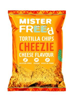 Mister Free'd tortilla chips with vegan cheese
