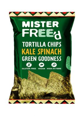 Mister Free'd tortilla chips kale & spinach